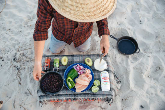 Fish Tacos on the beach