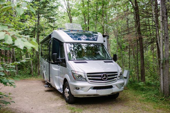 Camping in a Liesure Travel Class B