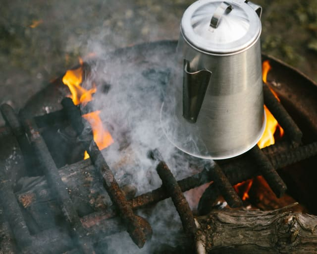 This Ozark coffee pot will make your camping life so much easier