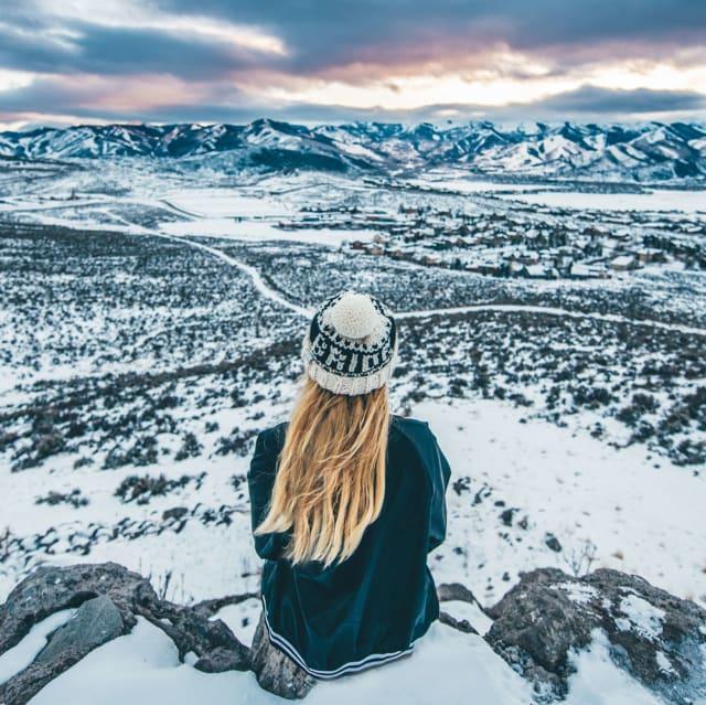 Park city utah breath taking snowy valley