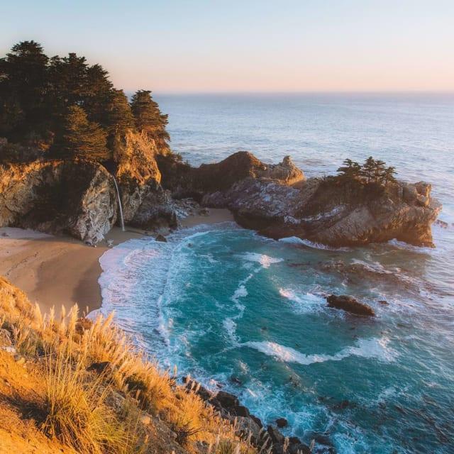 Beautiful Big Sur California waves and scenery