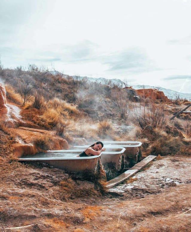 Bath tub Hot Springs Monroe Utah