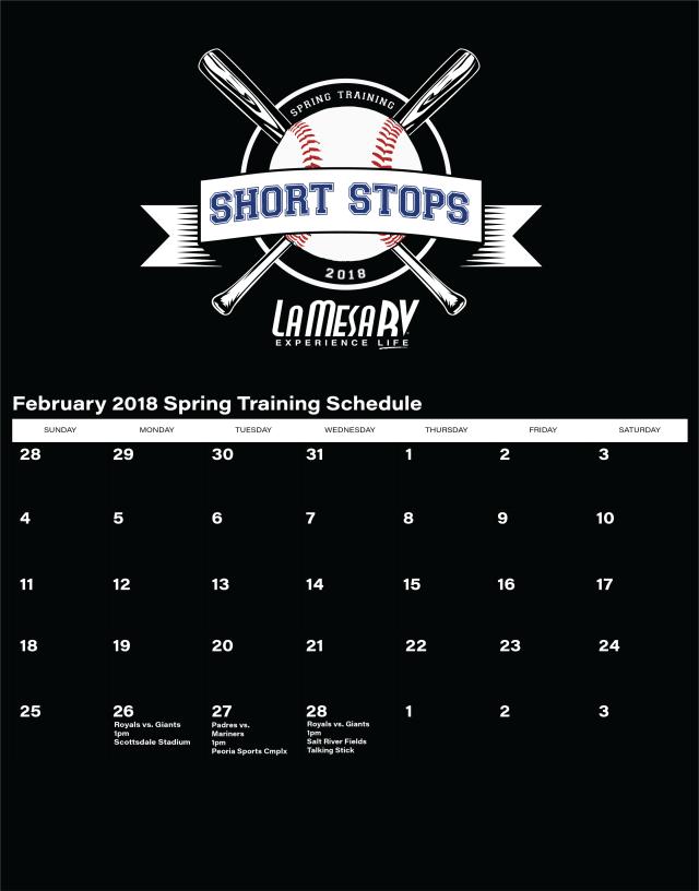 La Mesa RV Short Stops February schedule