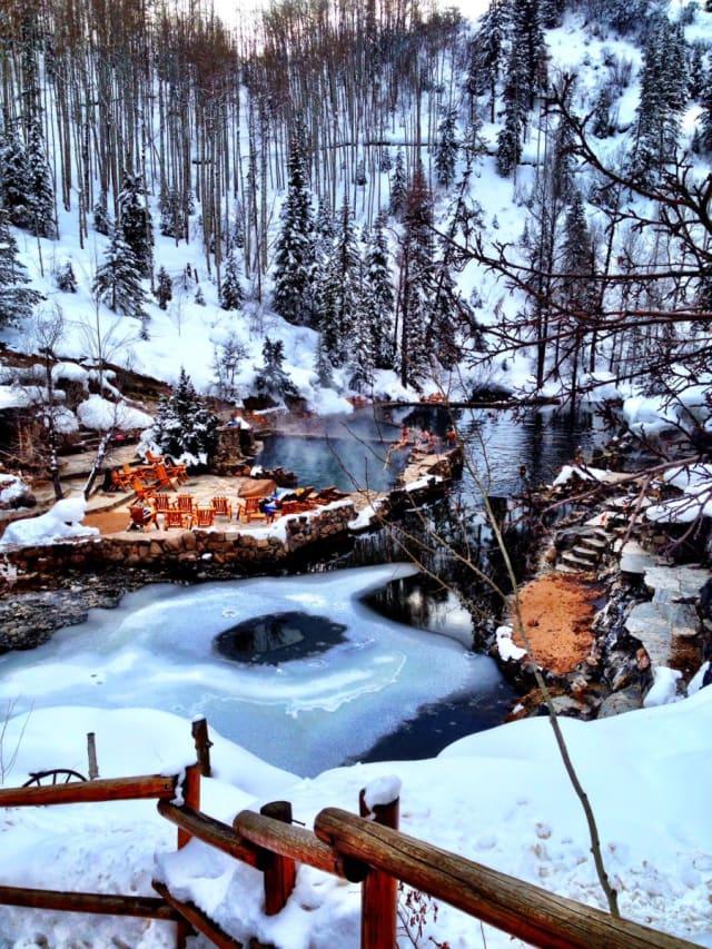 Steamboat springs Colorado hot springs Strawberry Park