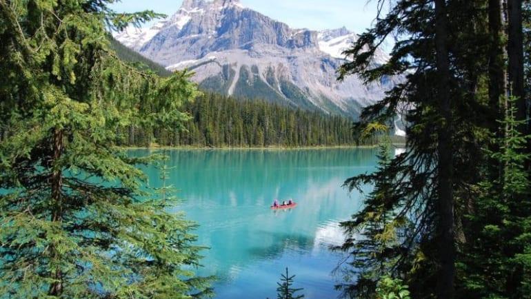 kayak, emerald water, go hiking, swim in Canada