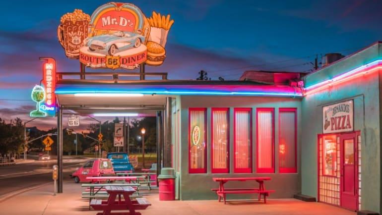 route 66, famous diner, rv eats