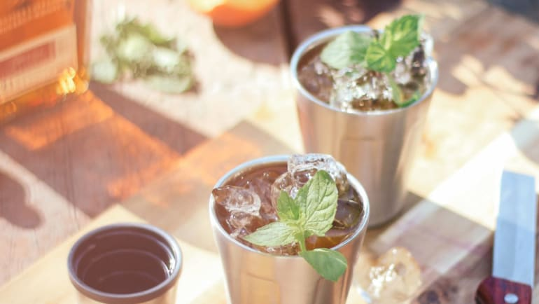 best mint julep with a sweet twist