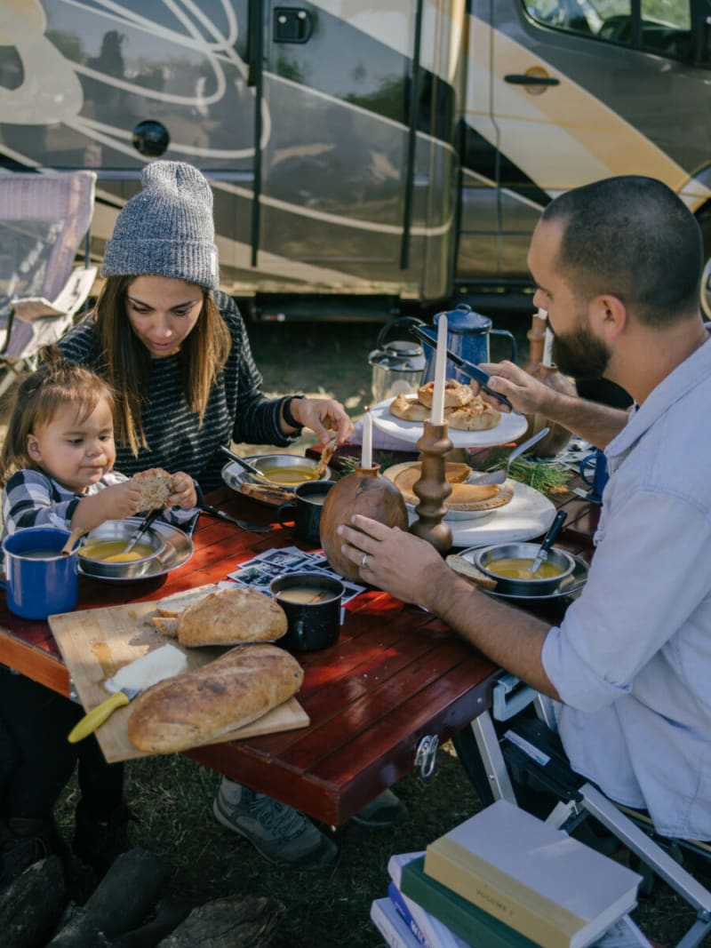 enjoy Thanksgiving at your campsite with your family and friends