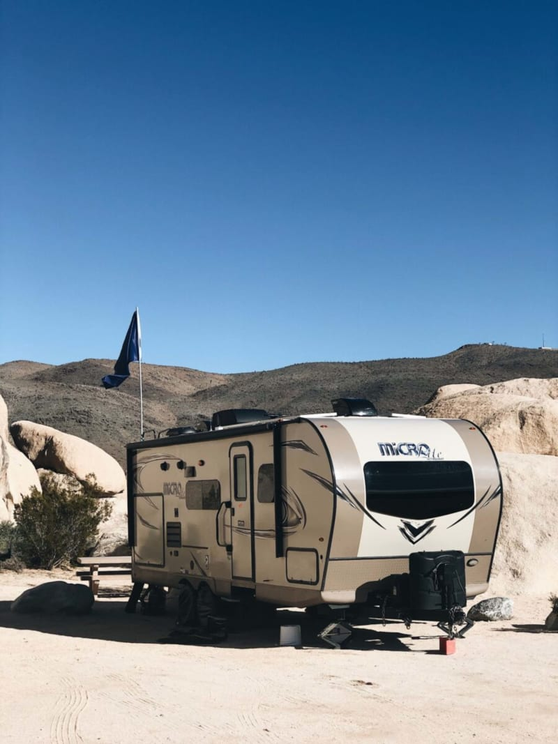 Hidden Valley Campground - great for RVers in Joshua Tree National Park