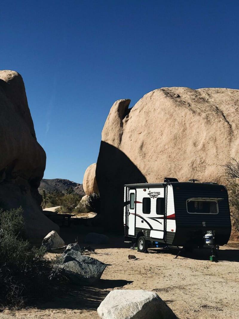 Camp at Jumbo Rocks Campground in Joshua Tree National Park