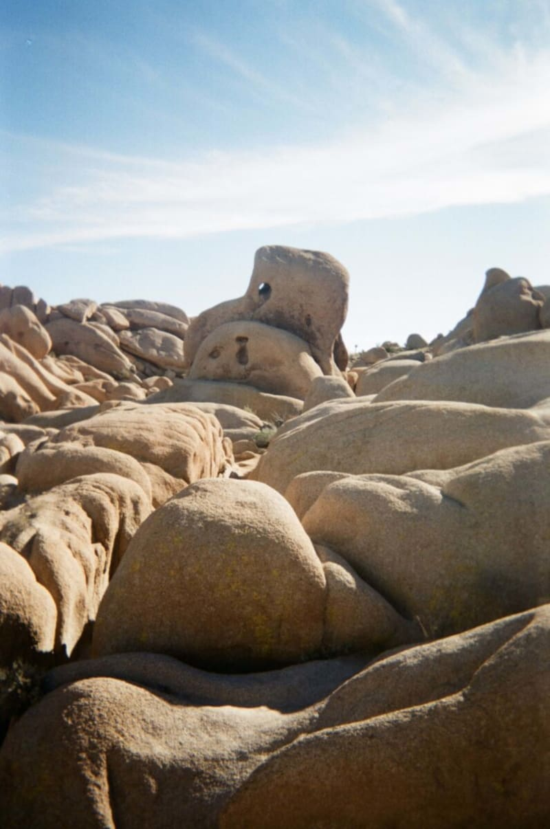 Rock climbing in Joshua Tree National Park California