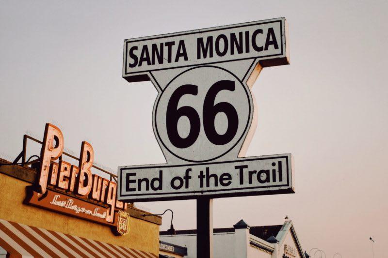 route 66, santa monica