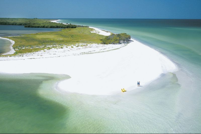 untouched island off Florida coast