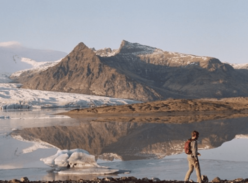 Walking along a glacial valley