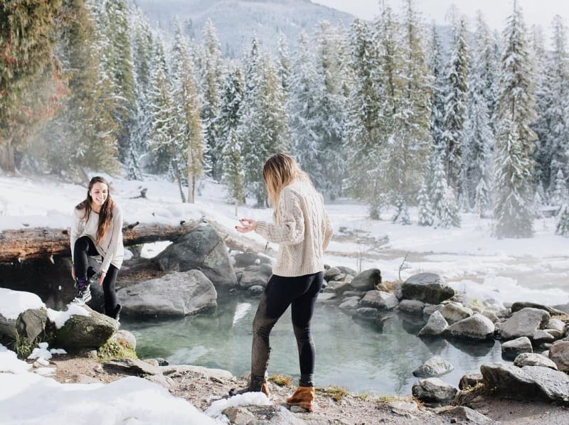 Hot Springs in the Winter