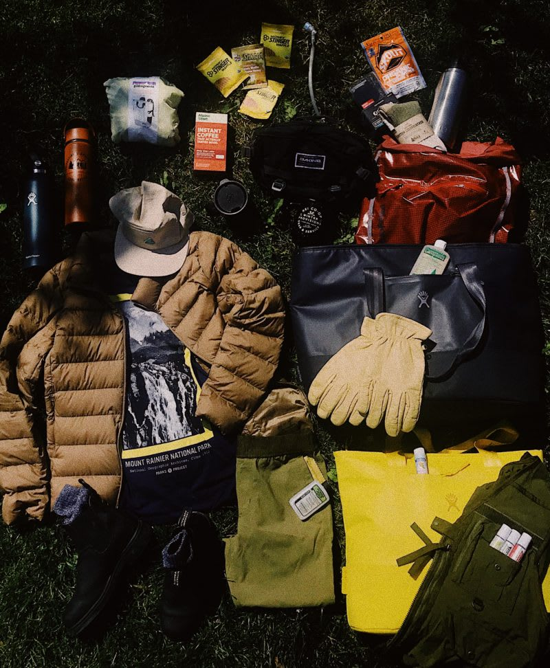 summer packing guide, hiking packing guide, Washington packing list