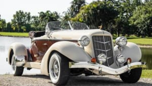 1936 Auburn Boattail Speedster  For Rent In Miami Fort Lauderdale Palm Beach South Florida