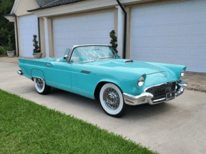 1957 Ford Thunderbird   For Rent In Miami Fort Lauderdale Palm Beach South Florida
