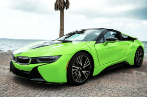 BMW I8 ROADSTER GREEN    For Rent In Miami Fort Lauderdale Palm Beach South Florida