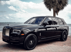2021 ROLLS ROYCE CULLINAN - BLACK BADGE EDITION STARLIGHT    For Rent In Miami Fort Lauderdale Palm Beach South Florida