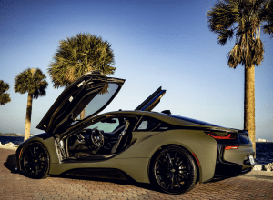 BMW I8 COUPE (DARK GREEN) 2019    For Rent In Miami Fort Lauderdale Palm Beach South Florida