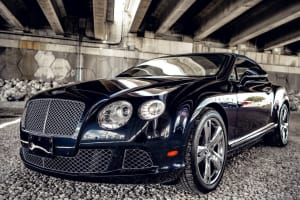 BENTLEY CONTINENTAL GTC BLACK - WHITE    For Rent In Miami Fort Lauderdale Palm Beach South Florida
