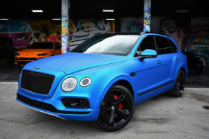 BENTLEY BENTAYGA BLUE    For Rent In Miami Fort Lauderdale Palm Beach South Florida