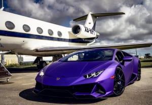 Lamborghini Huracan - Purple    For Rent In Miami Fort Lauderdale Palm Beach South Florida