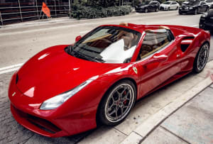 FERRARI 488 SPIDER - RED CHROME    For Rent In Miami Fort Lauderdale Palm Beach South Florida