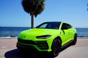 2021 LAMBORGHINI URUS - NEON GREEN    For Rent In Miami Fort Lauderdale Palm Beach South Florida