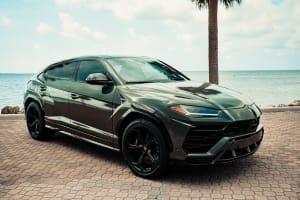 2021 LAMBORGHINI URUS - MILITARY GREEN    For Rent In Miami Fort Lauderdale Palm Beach South Florida
