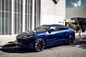 2021 Lamborghini Urus - Dark Blue    For Rent In Miami Fort Lauderdale Palm Beach South Florida