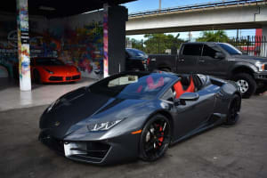 Lamborghini Huracan Spyder - Gray    For Rent In Miami Fort Lauderdale Palm Beach South Florida
