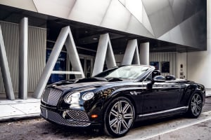 BENTLEY CONTINENTAL GTC BLACK (Converitble)    For Rent In Miami Fort Lauderdale Palm Beach South Florida