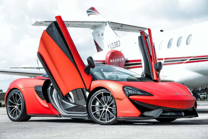 Featured Product: 2019 McLaren 570s Spyder (Convertible) Orange For Rent In Miami Fort Lauderdale Palm Beach South Florida
