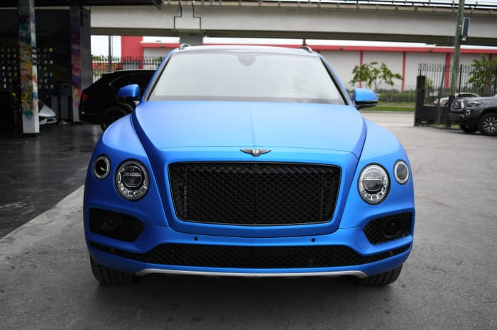 Image #2 of our 2018 Bentley Bentayga 3rd Row (Seats 7) (Blue) In Miami Fort Lauderdale Palm Beach South Florida