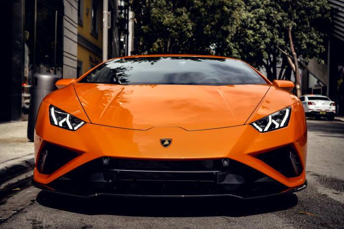 Image #9 of our 2022 Lamborghini Huracan EVO  (Orange) In Miami Fort Lauderdale Palm Beach South Florida