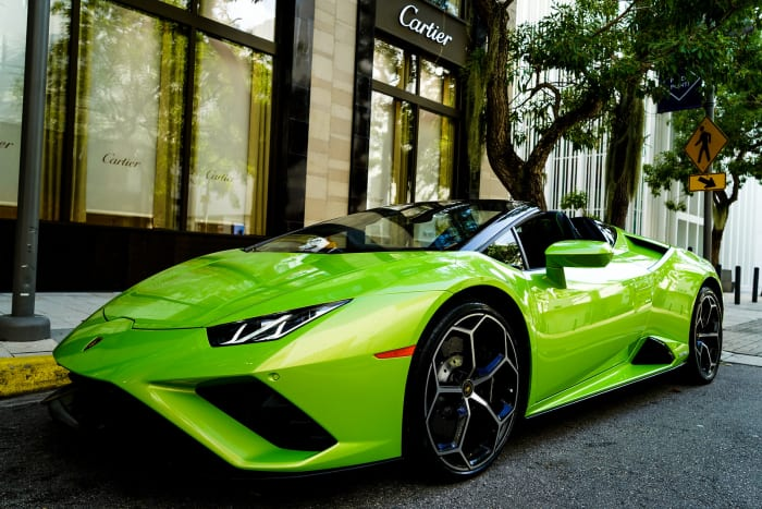 Image #0 of our 2021 Lamborghini Huracan EVO Spyder (Convertible) (Green) In Miami Fort Lauderdale Palm Beach South Florida