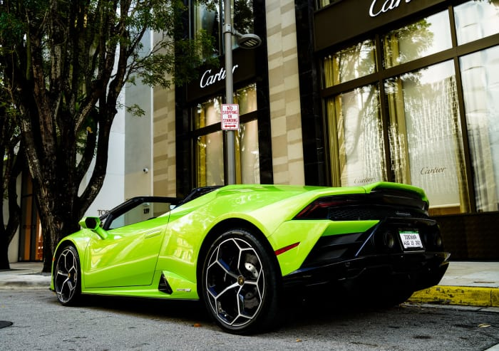 Image #1 of our 2021 Lamborghini Huracan EVO Spyder (Convertible) (Green) In Miami Fort Lauderdale Palm Beach South Florida