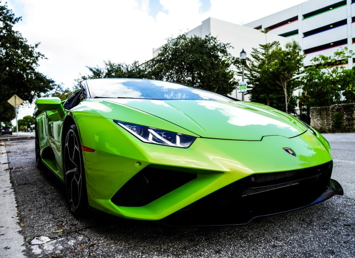 Image #4 of our 2021 Lamborghini Huracan EVO Spyder (Convertible) (Green) In Miami Fort Lauderdale Palm Beach South Florida