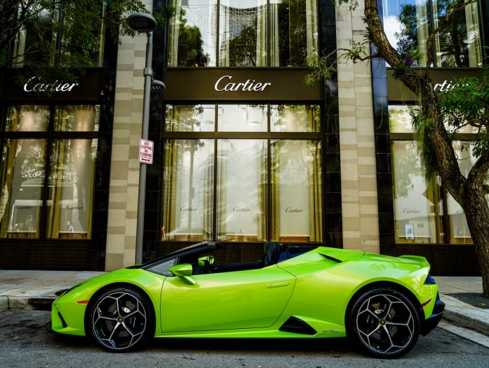 Image #3 of our 2021 Lamborghini Huracan EVO Spyder (Convertible) (Green) In Miami Fort Lauderdale Palm Beach South Florida