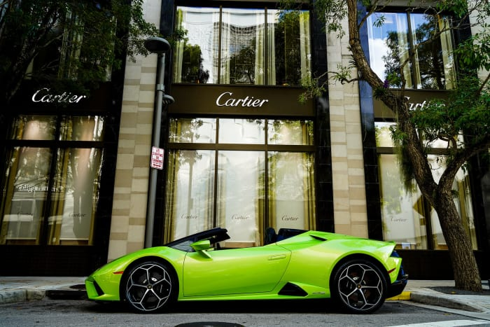 Image #5 of our 2021 Lamborghini Huracan EVO Spyder (Convertible) (Green) In Miami Fort Lauderdale Palm Beach South Florida
