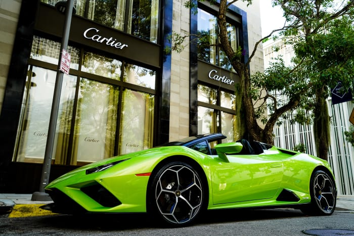 Image #8 of our 2021 Lamborghini Huracan EVO Spyder (Convertible) (Green) In Miami Fort Lauderdale Palm Beach South Florida