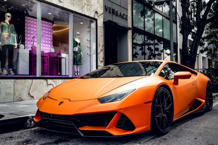 Image #2 of our 2018 Lamborghini Huracan EVO Spyder (Matte Orange) In Miami Fort Lauderdale Palm Beach South Florida