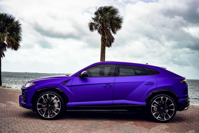 Image #1 of our 2021 Lamborghini Urus  (Purple) In Miami Fort Lauderdale Palm Beach South Florida