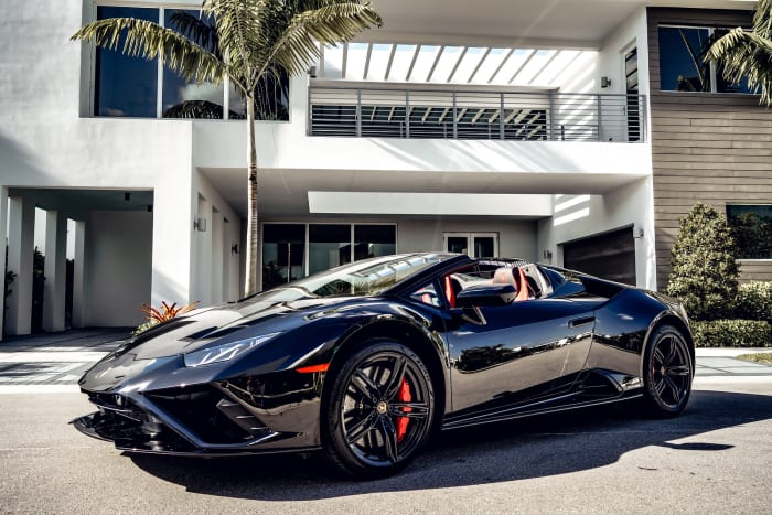 Image #3 of our 2021 Lamborghini Huracan EVO Spyder (Convertible) Italy (Black) In Miami Fort Lauderdale Palm Beach South Florida