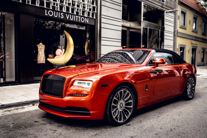 Image #2 of our 2021 Rolls Royce Dawn Black Badge (Orange) In Miami Fort Lauderdale Palm Beach South Florida