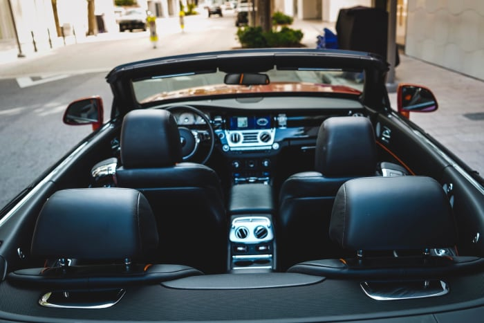 Image #4 of our 2021 Rolls Royce Dawn Black Badge (Orange) In Miami Fort Lauderdale Palm Beach South Florida