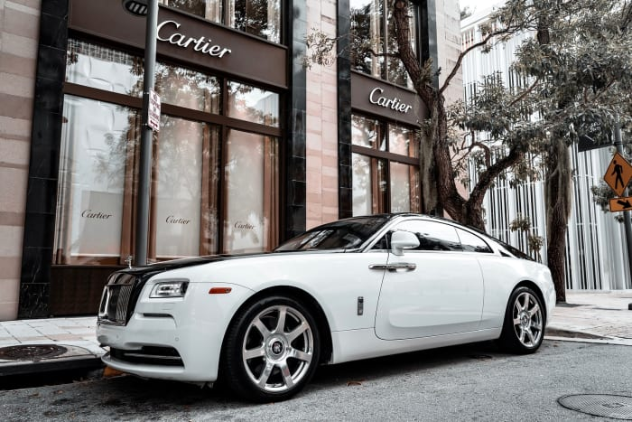 Image #1 of our 2018 Rolls Royce Wraith  (White/Black) In Miami Fort Lauderdale Palm Beach South Florida