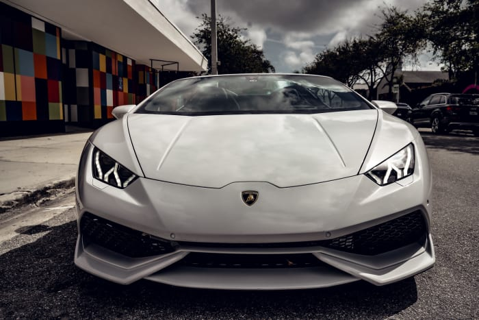 Image #1 of our 2018 Lamborghini Huracan Spyder (Convertible) (White) In Miami Fort Lauderdale Palm Beach South Florida
